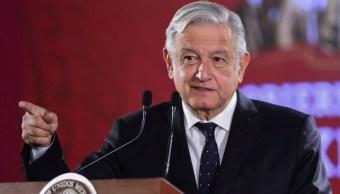 Foto: El presidente de México, Andrés Manuel López Obrador, durante su conferncia de prensa en Palacio Nacional, 21 junio 2019