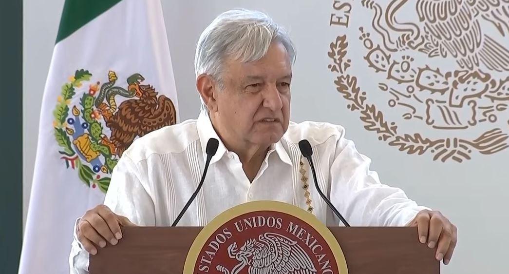 Foto: El presidente Andrés Manuel López Obrador dijo que la prioridad es producir lo que consumimos en México, el 15 de junio de 2019 (Gobierno de México YouTube)