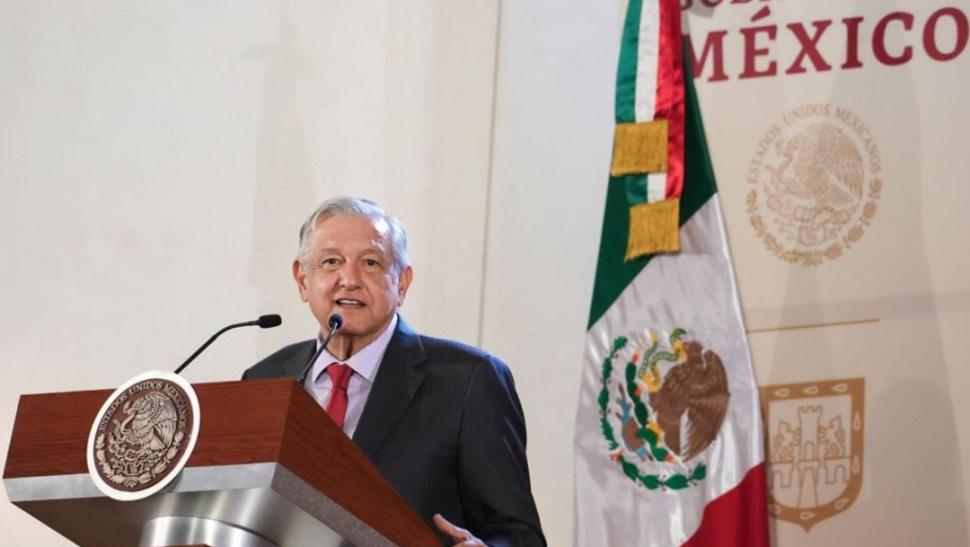 Foto: El presidente Andrés Manuel López Obrador en su conferencia de prensa, 21 junio 2019