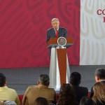 Foto: El presidente Andrés Manuel López Obrador, en su conferencia de prensa, 6 junio 2019
