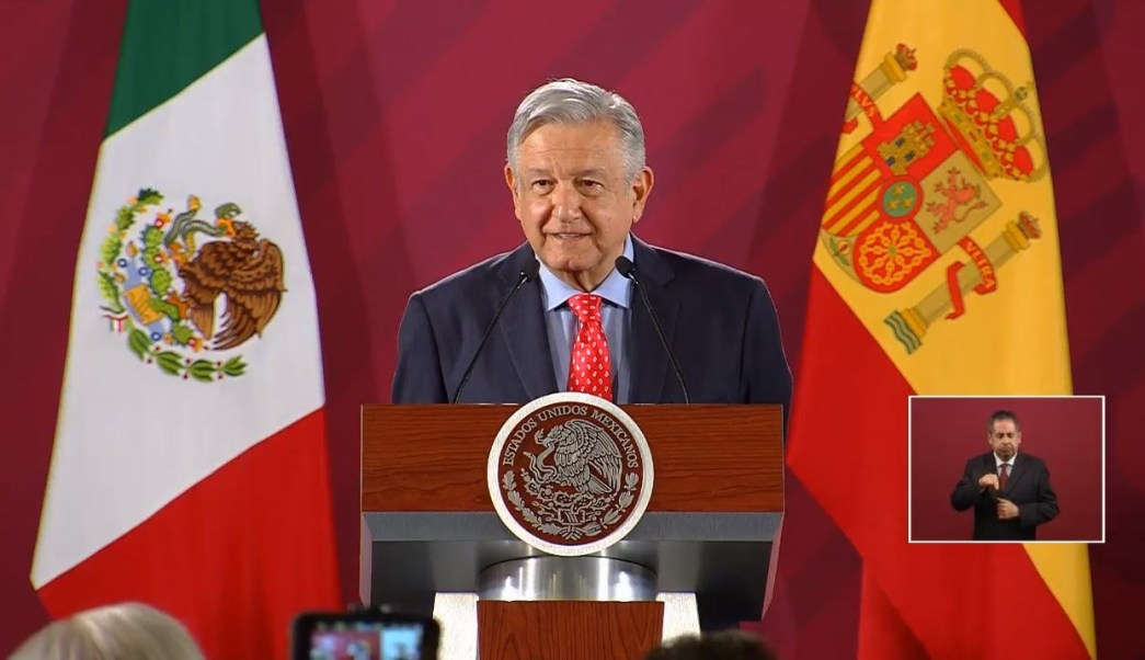 Foto: El presidente Andrés Manuel López Obrador conmemoró los 80 años de la llegada del exilio republicano español a México, 13 junio 2019