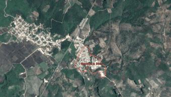 IMAGEN AMLO: Migrantes usan 68 puntos de cruce de Guatemala a México, uno es de Gracias a Dios a Carmen Xhán (Google Maps)