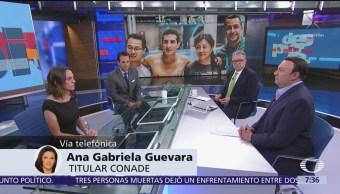 Ana Gabriela Guevara niega que ninis ganen más que los atletas