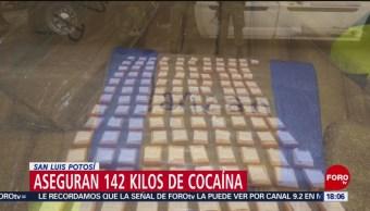 FOTO: Aseguran 142 kilos de cocaína en San Luis Potosí