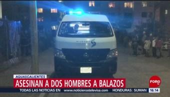 FOTO: Asesinan a balazos a 2 hombres en Aguascalientes, 23 Junio 2019