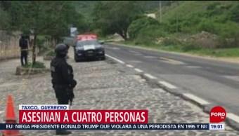 FOTO: Asesinan a cuatro personas en Taxco, Guerrero, 23 Junio 2019