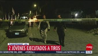 Asesinan a dos jóvenes en Tlaquepaque, Jalisco