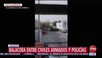 Así ocurrió el enfrentamiento en Tlajomulco de Zúñiga, Jalisco