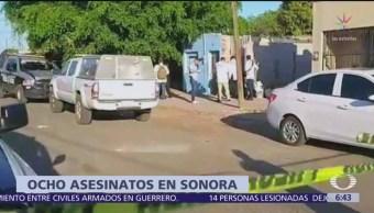 Ataques armados en Sonora dejan al menos 8 muertos