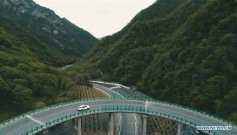 foto China inaugura tramo de autopista sin que se haya cortado un solo árbol 11 junio 2019