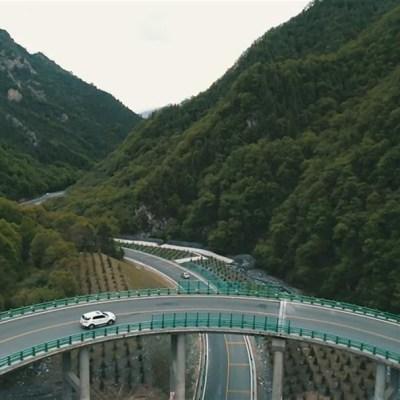 China inaugura tramo de autopista sin que se haya cortado un solo árbol