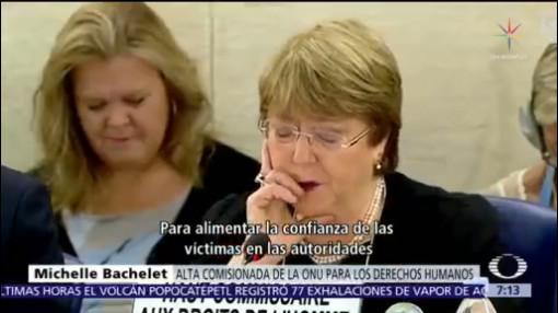 Bachelet: colaboramos con una comisión en caso Ayotzinapa
