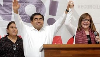 Foto: Los datos de la autoridad electoral destacan que Barbosa Huerta tendría un límite inferior de 42.6% y un máximo de 45.4%., el 2 de junio de 2016