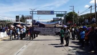 Foto: bloqueo en la Autopista del Sol, 18 de junio 2019. (Twitter @Janosikgarciaz )