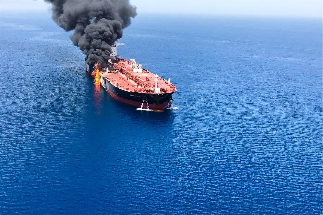 Foto: Buque noruego es atacado, 13 de junio de 2019, Golfo Pérsico