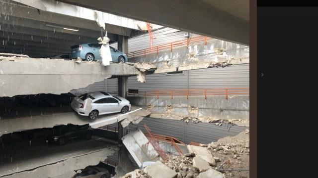 Foto: Una grúa colapsa sobre un edificio en Dallas, Texas, junio 9 de 2019 (Twitter: @ Maria_NBC5)
