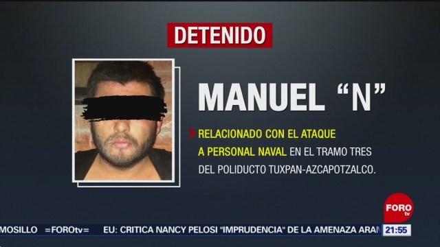 FOTO: Cae sujeto vinculado con ataque a marinos en Puebla, 1 Junio 2019