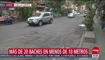 Foto: Alcaldía Cuauhtémoc Baches CDMX 25 Junio 2019