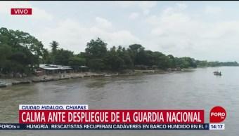 FOTO: Calma ante despliegue de la Guarda Nacional en la frontera sur
