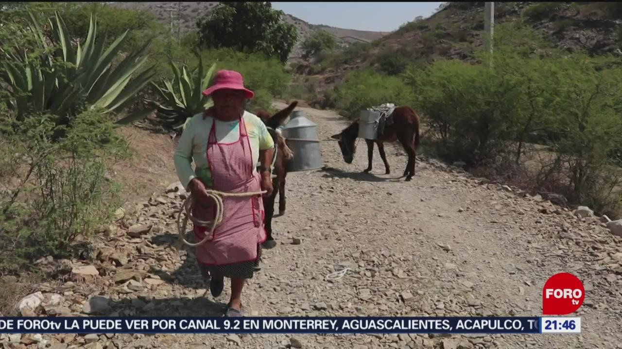 Foto: Caminan Kilómetros Acarrear Agua de Pozo Hidalgo 10 Junio 2019