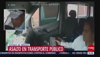 FOTO: Captan asalto en transporte público en Edomex, 23 Junio 2019