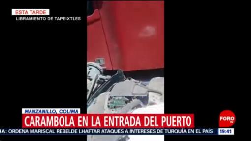 FOTO:Carambola en Manzanillo, Colima, deja 2 heridos, 29 Junio 2019