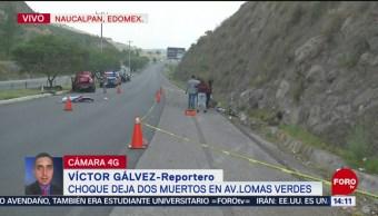 Foto: Choque en Naucalpan deja dos muertos