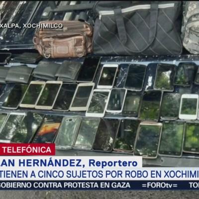 Cinco detenidos por robo a transporte público en CDMX