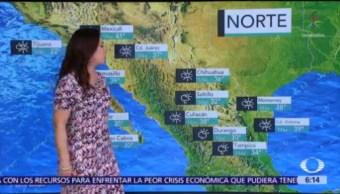 Clima caluroso y lluvias predominarán en gran parte de México