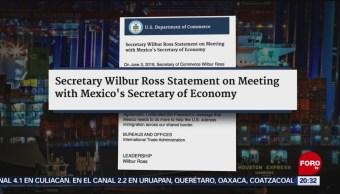 Foto: Wilbur Ross Estados Unidos México Migración 3 Junio 2019