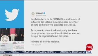 FOTO: Conago propone medidas simétricas con EU, en caso de no llegar a acuerdo