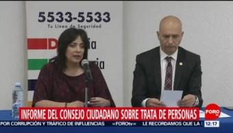Consejo Ciudadano presenta informe sobre trata de personas