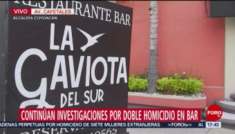 Foto: Continúan investigaciones por doble homicidio en bar en CDMX