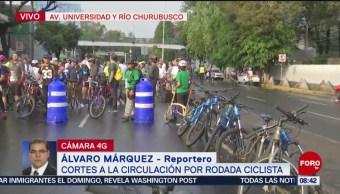 FOTO: Cortes a la circulación por rodada ciclista, 22 Junio 2019