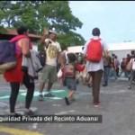 Foto: Migrantes Hondureños Cruzan Frontera México 5 Junio 2019