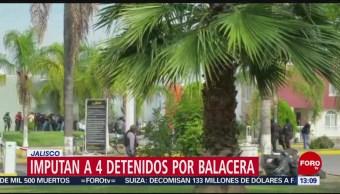 En Jalisco, cuatro personas que fueron capturadas durante una balacera en Tlajomulco de Zúñiga recibieron prisión preventiva