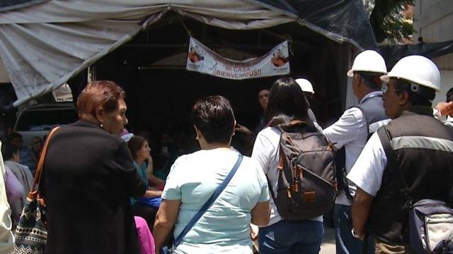 Foto: Los damnificados del sismo del 19 de septiembre de 2017 piden ayuda al gobierno capitalino, el 10 de junio de 2019 (Noticieros Televisa)