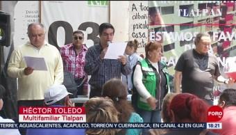 FOTO: Denuncian reconstrucción con fines políticos en CDMX