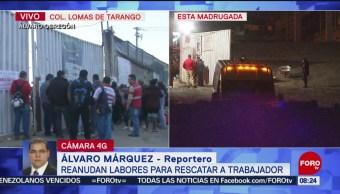 Derrumbe en construcción de complejo habitacional en Álvaro Obregón