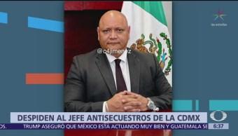Despiden al titular de Antisecuestros en la CDMX