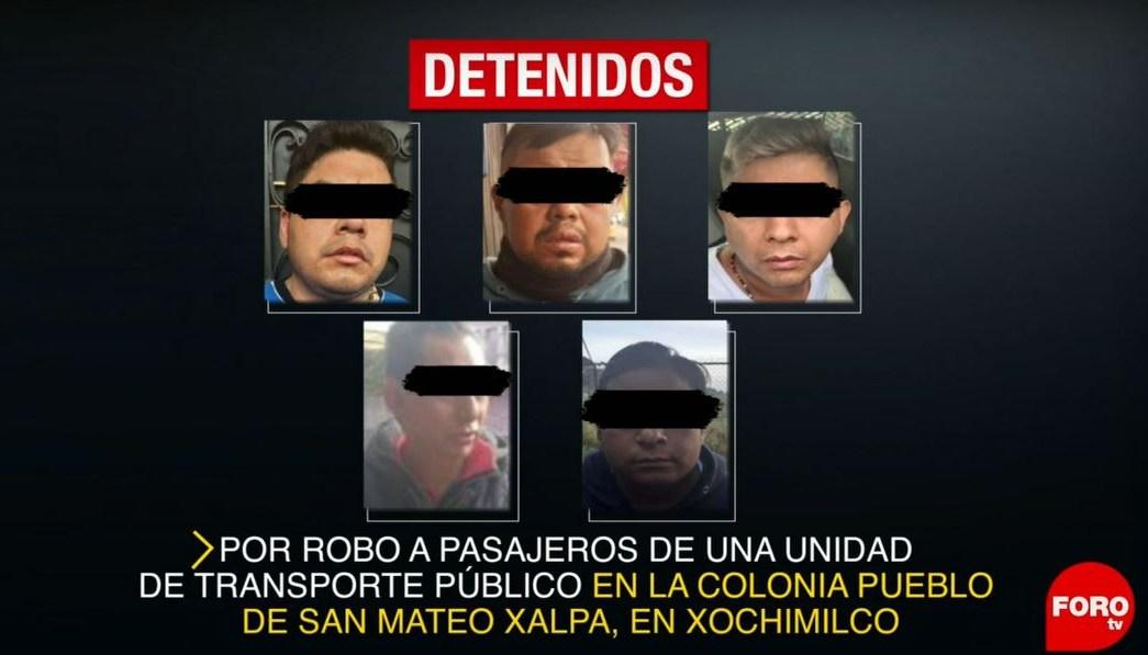 Foto: Los detenidos fueron quedaron a disposición del agente del Ministerio Público en Xochimilco, el 15 de junio de 2019 (Noticieros Televisa)
