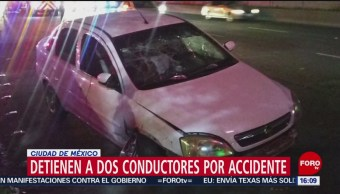 FOTO: Detienen a 2 conductores tras accidente en CDMX, 22 Junio 2019