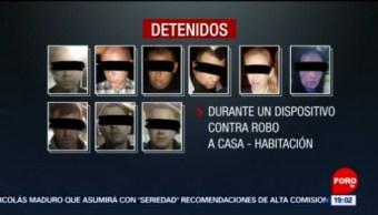 FOTO: Detienen a banda criminal y aseguran droga en CDMX, 23 Junio 2019