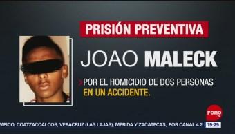 Foto: Prisión Preventiva Futbolista Joao Maleck 25 Junio 2019