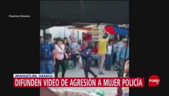 FOTO: Difunden video de agresión a mujer policía