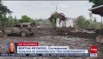 FOTO: Dos muertos y varios heridos por desbordamiento de río