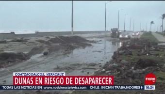 FOTO: Dunas costeras, en riesgo de desaparecer en Coatzacoalcos, Veracruz, 15 Junio 2019