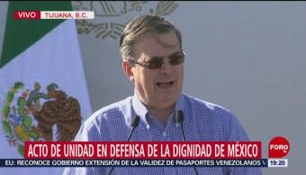 Foto: Marcelo Ebrard Acto Unidad Tijuana AMLO 7 Junio 2019