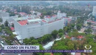 Edificio de Tlalpan rompe las partículas del smog