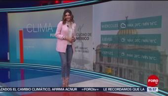 Foto: El Clima 'A las Tres' con Daniela Álvarez del 4 de junio de 2019